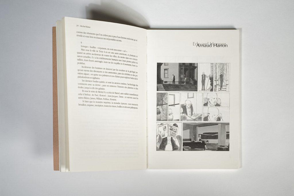 """Histoire en trois planches publiées dans la revue """"écritures"""", Liège. Photo J. Lombard."""
