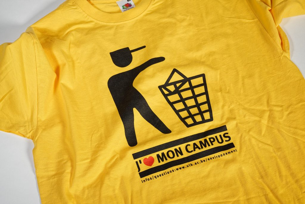 "Campagne ""J'aime mon campus"", ULB. Photo J. Lombard."